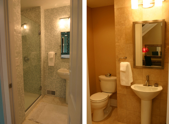 We helped this German Village tax accountant remodel her 100 year old home  into. Bathrooms